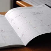 college student planning calendar